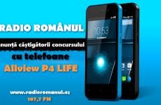 Radio Românul anunță câștigătorii celor 4 telefoane Allview P4 LIFE
