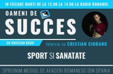 Interviu cu Cristian Ciobanu despre sport si sanatate