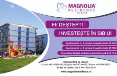 Magnolia Residence Sibiu oferă un discount substanțial persoanelor care vor cumpăra apartamente în luna august