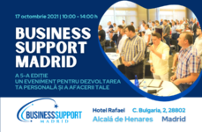 EVENIMENT, 17 octombrie 2021, ora 10:00: BUSINESS SUPPORT MADRID – A 5-A EDIȚIE